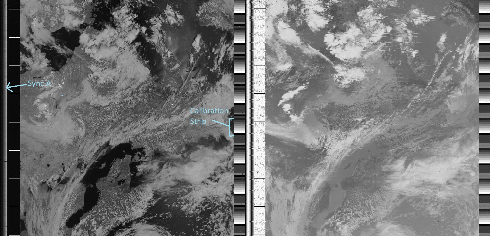sample decoded NOAA image